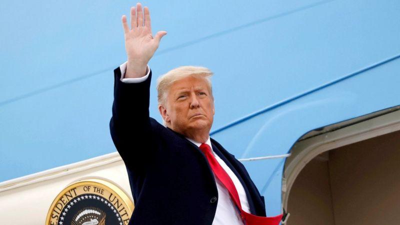 پیام خداحافظی ترامپ همزمان با ورود بایدن به واشنگتن