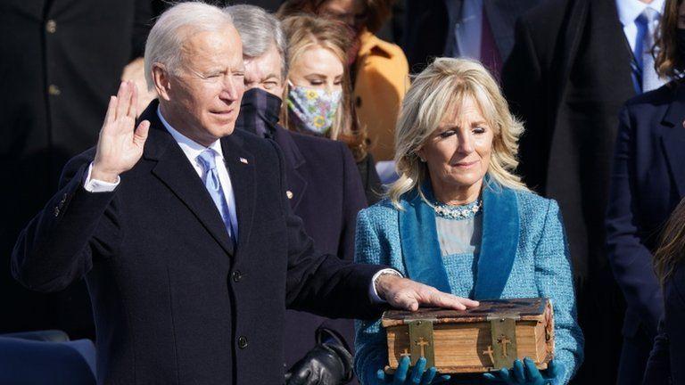 جو بایدن در مراسم سوگند ریاست جمهوری: دمکراسی چیره شد