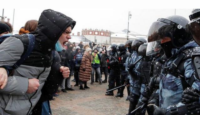 آمریکا بازداشت گسترده تظاهرکنندگان را در روسیه محکوم کرد.