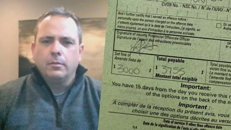 جریمه ۳.۸ هزار دلاری مردی در مرز زمینی کانادا