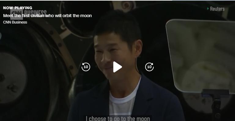 میلیاردر ژاپنی ٨ نفر را به سفر به ماه دعوت میکند