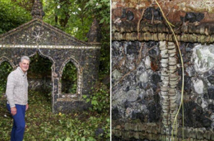 کشف یک سازه متعلق به قرن هجدهم که با دندان تزئین شده است