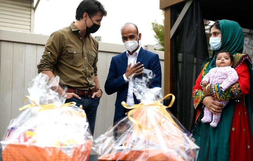 دیدار ترودو با پناهندگان افغان در تعطیلات شکرگذاری