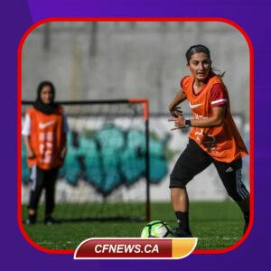 تمرین دختران تیم ملی فوتبال افغانستان در پرتغال