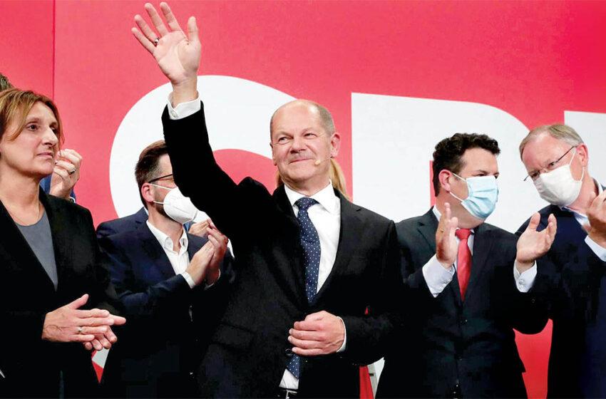 اولاف شولتز خبر از تشکیل دولت جدید سه حزبی داد