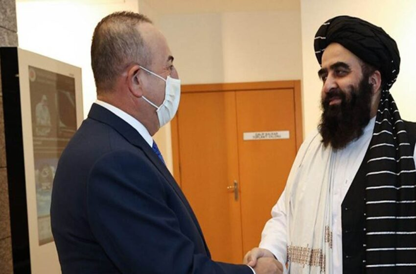 دیدار وزیر خارجه ترکیه با وزیر خارجه طالبان